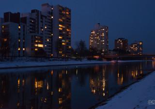 Büchenbach bei Nacht